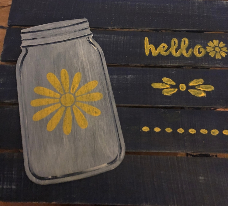 Sign with Jar and Yellow